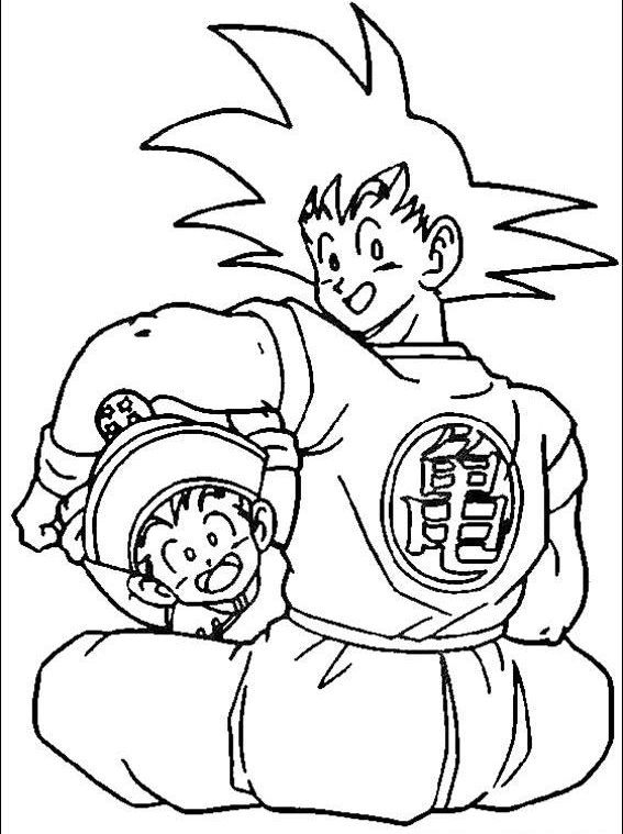 Toddler Will Love Cute Dragon Ball Z Coloriage Dbz Coloriage