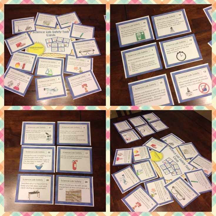 Science Lab Safety Task Cards Middle School Science Pinterest