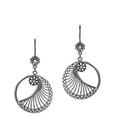 Another great find on #zulily! Sterling Silver Circle Drop Earrings #zulilyfinds