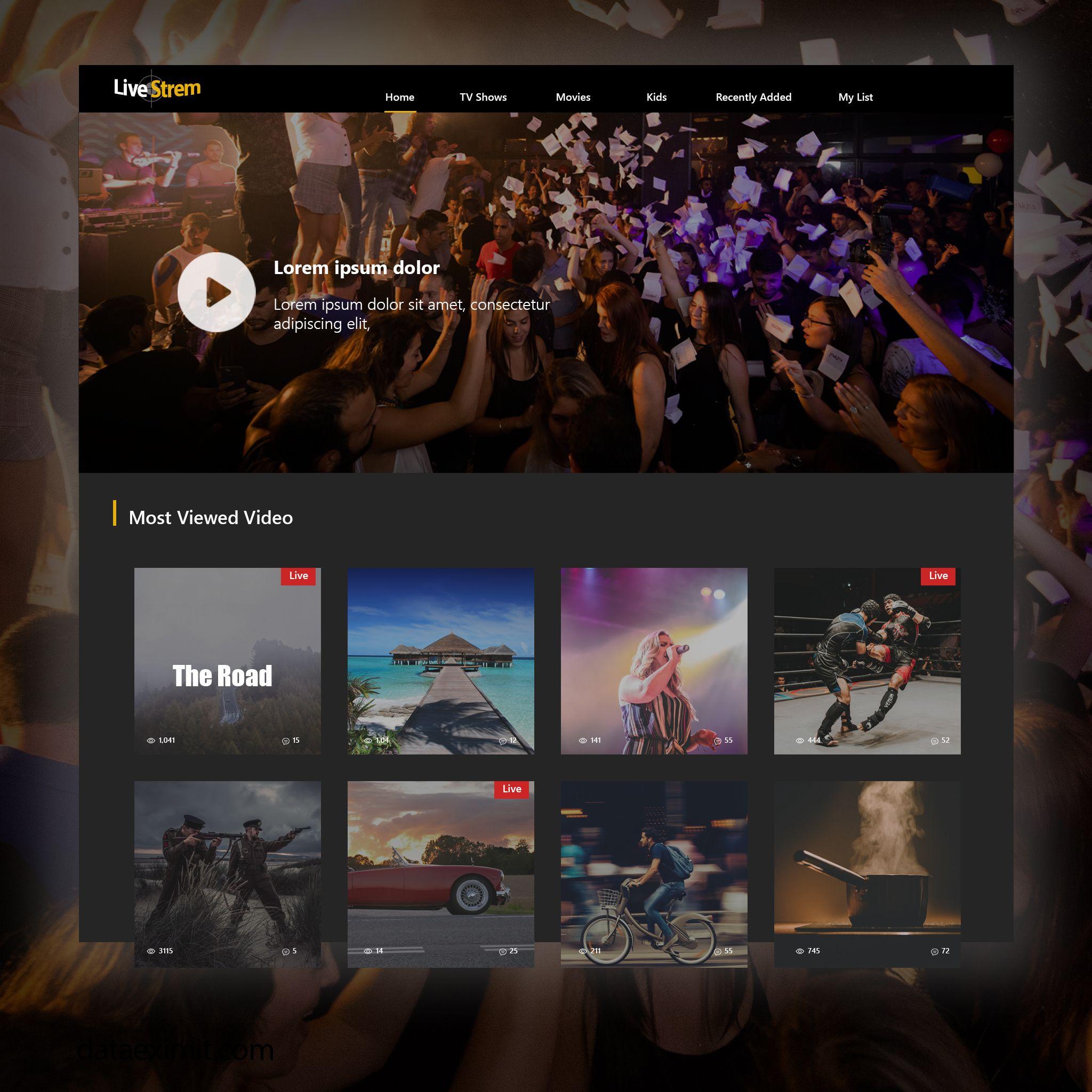 Live Streaming Website Development Website Design Company Web Layout Design Website Design Services