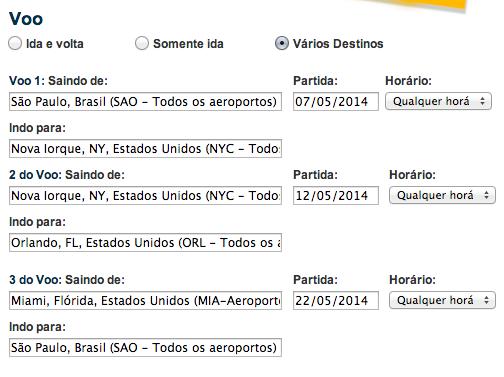 Multi-destinos Expedia