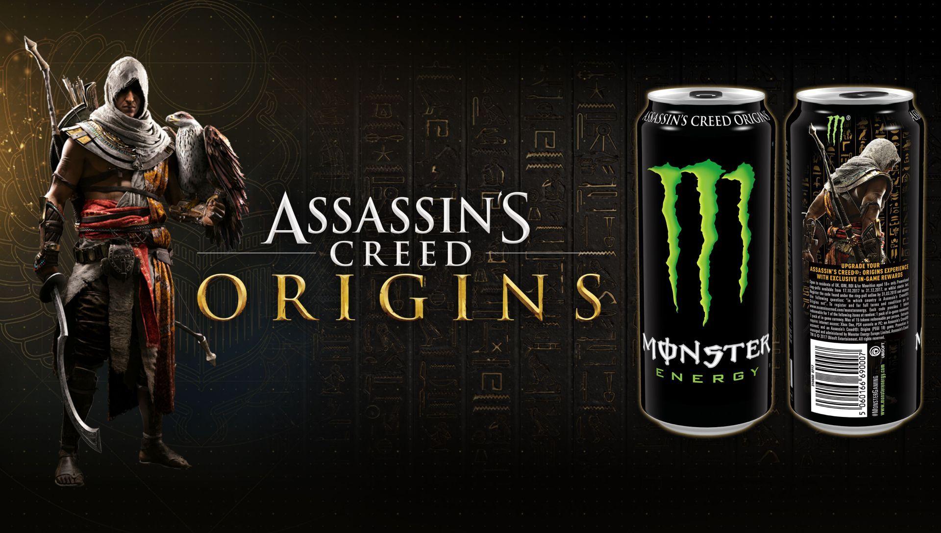 Assassin's Creed Origins Partnerschaft mit Monster