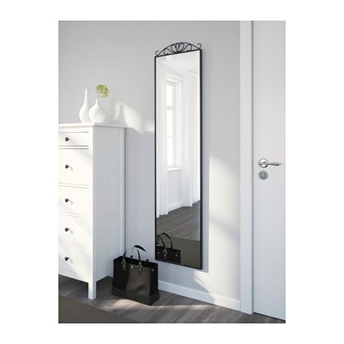 KARMSUND Floor mirror, black | Floor mirror, Cozy apartment and Room