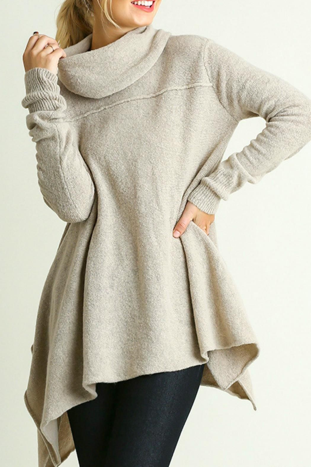 Umgee Cozy cowl neck A line sweater. Cozy Cow Neck by Umgee USA. Clothing -  Sweaters Austin 74a0c637d