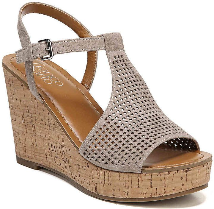 e91cca6a55 Franco Sarto Women's Clinton 2 Wedge Sandal | summer time in 2019 ...