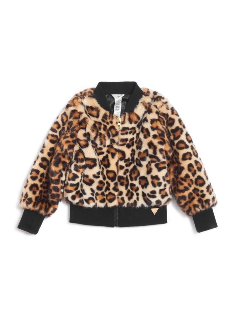 c772bfb693f1 eBay #Sponsored GUESS Factory Girl's Janice Leopard Bomber Jacket (2 ...