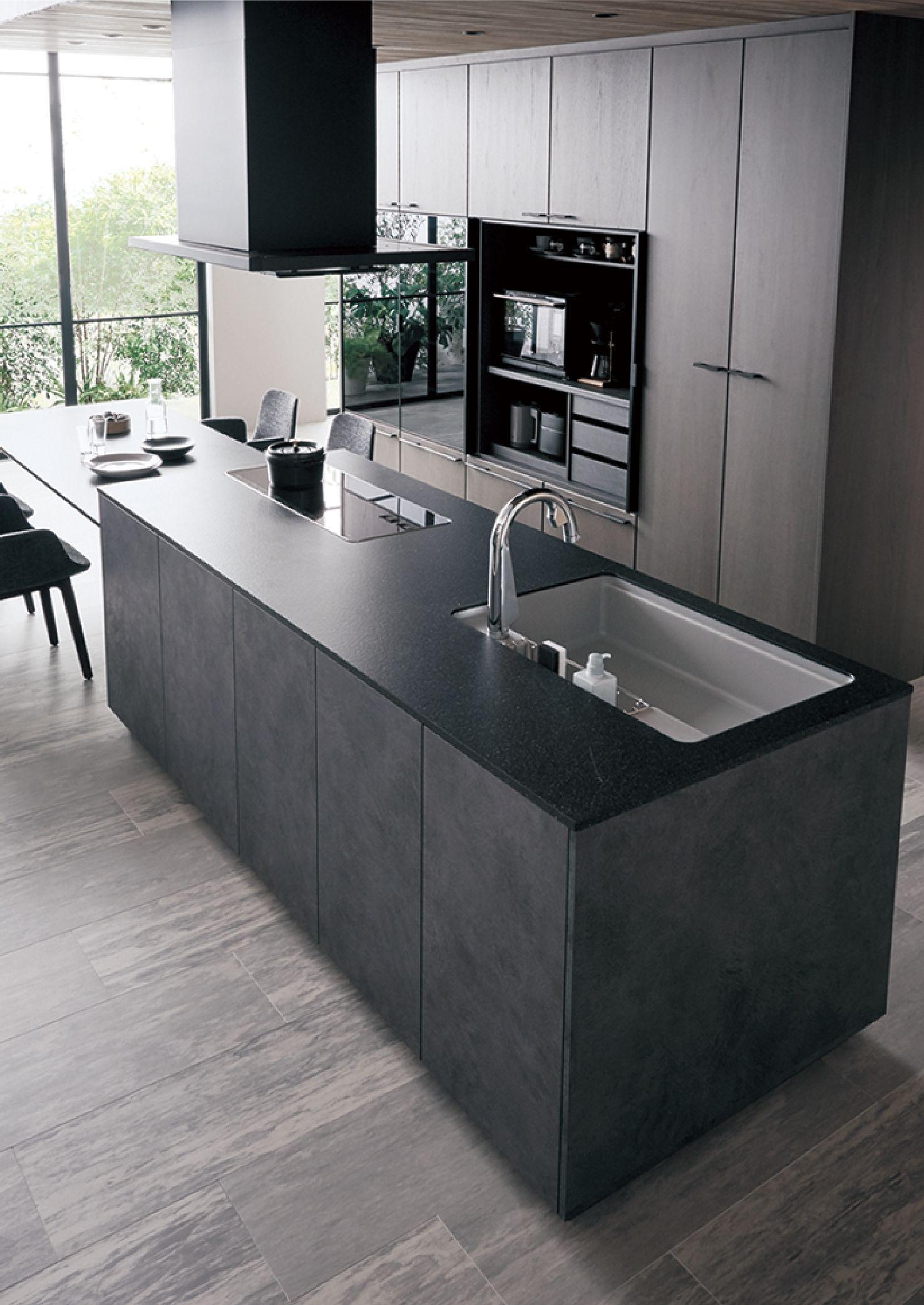 Panasonicのlクラスキッチンをご紹介 キッチン間取り 厨房 設計 キッチンデザイン