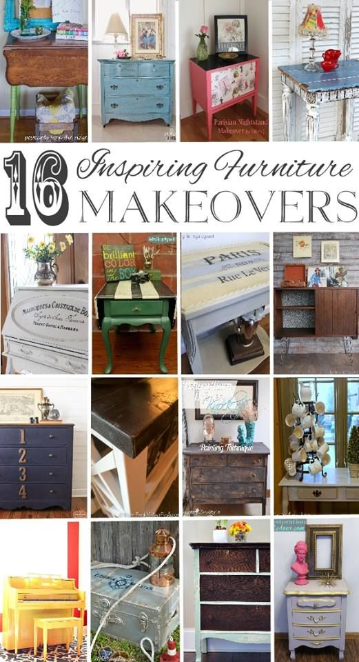 Fabulous collection of DIY painted furniture makeover ideas!