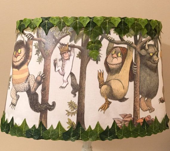 Where the wild things are custom made lamp shade by kimswhimsies where the wild things are custom made lamp shade by kimswhimsies mozeypictures Gallery