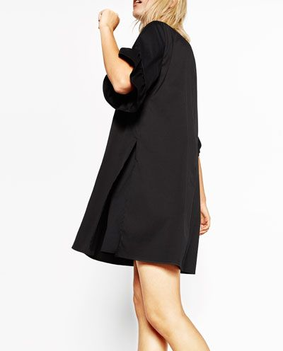 Image 4 of JUMPSUIT DRESS WITH FRILL ON SLEEVES from Zara