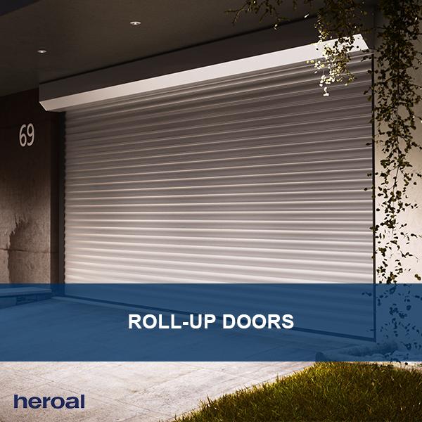 Aluminum Roll Up Doors From Heroal Are Stable Durable And Protect Your Belongings From Hail And Storms They Garage Door Design Doors Garage Door Installation