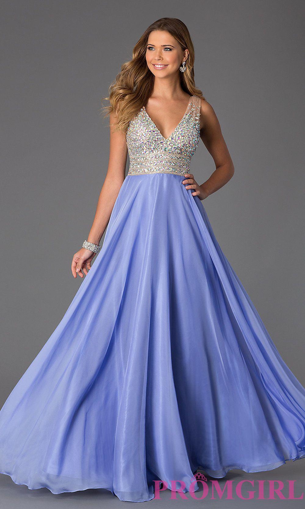 Sleeveless Floor Length V-Neck Dress by JVN by Jovani | Formal ...