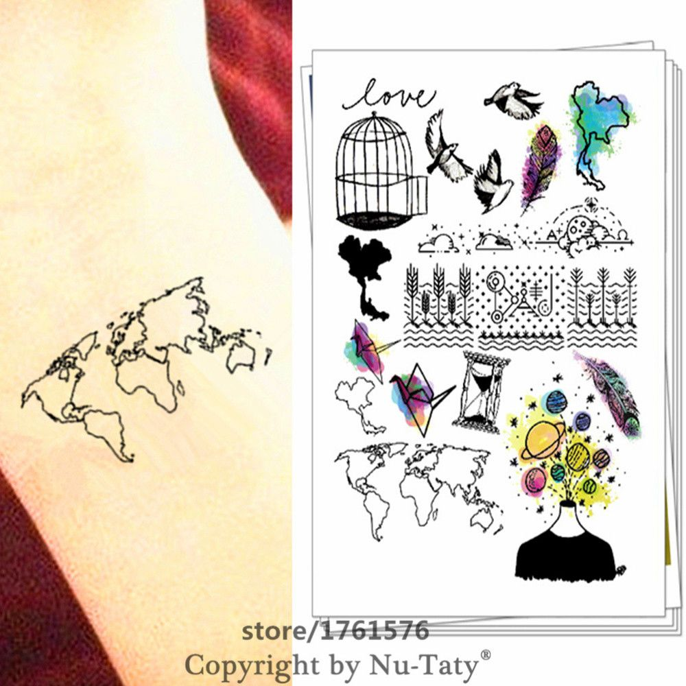 M theory flash temporary tattoos body art world map tatoos tatuagem m theory flash temporary tattoos body art world map tatoos tatuagem stickers 2115cm altavistaventures