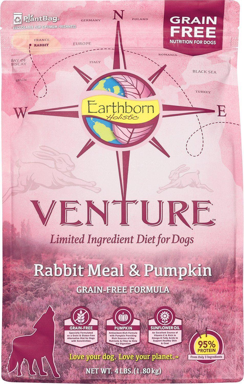 Earthborn Holistic Venture Dog Food Rabbit Meal 4lb Bag Be Sure