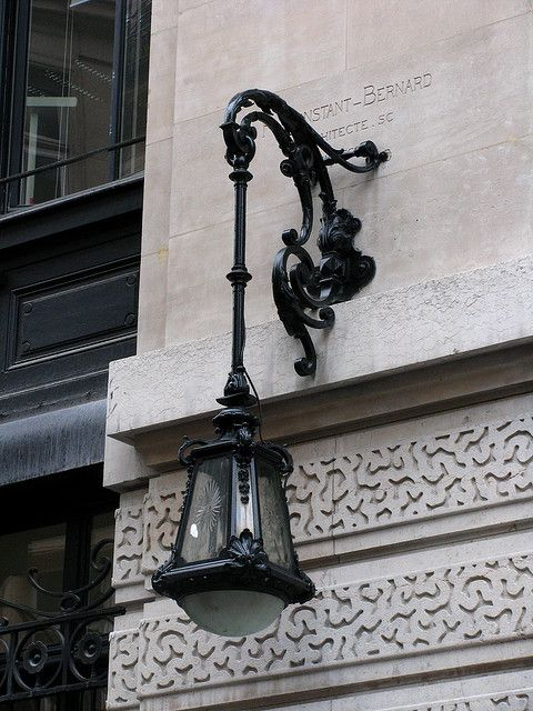Street Lamp Bnp Paribas Building Paris Lamp Posts