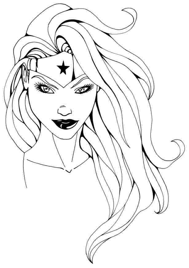 Coloring Page Wonder Woman Superheroes 78