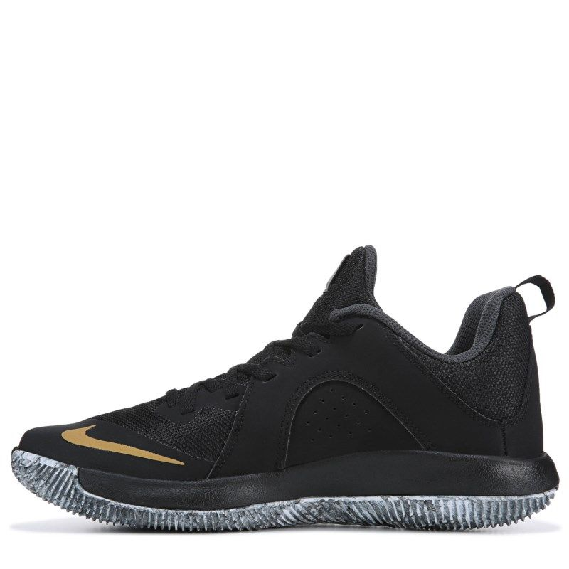 79a0c3f3cd71 Nike Men s Fly By Low Basketball Shoes (Black Gold)