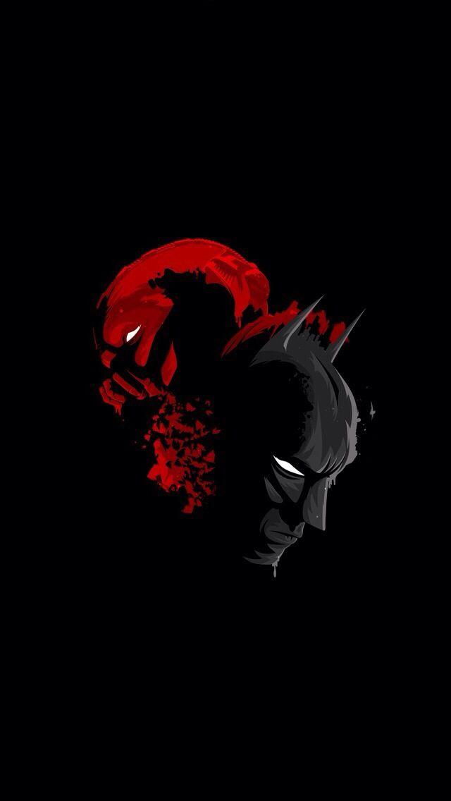 Iphone Marvel Batman Art Abstract Black Wallpaper Batman
