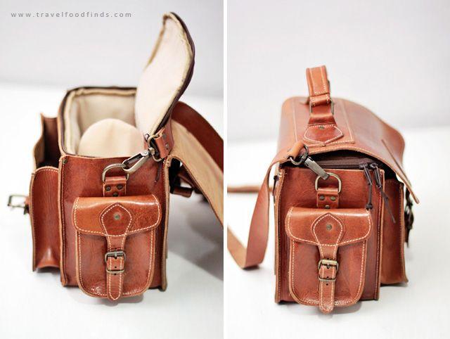 d5c3681b42 Travel . Food . Finds  Leather Camera Bag