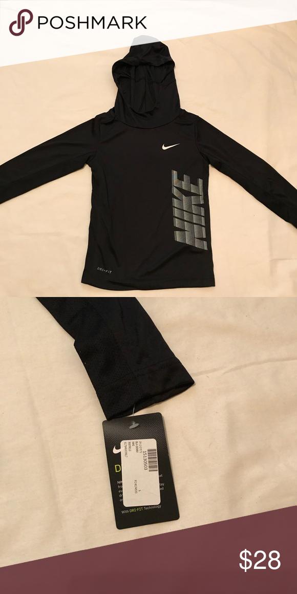 c4f8392357789 Nike boys Dro fit HOODIE Dri-fit black NIKE HOODIE BRAND NEW W TAGS BLACK KIDS  SIZE S Nike Shirts   Tops Sweatshirts   Hoodies