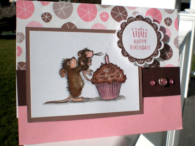 House Mouse wishes by nottoocreative - Cards and Paper Crafts at Splitcoaststampers y