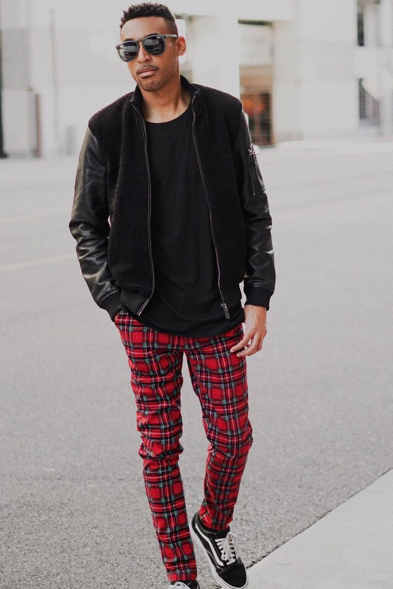 Men Wearing Plaid Pants Style
