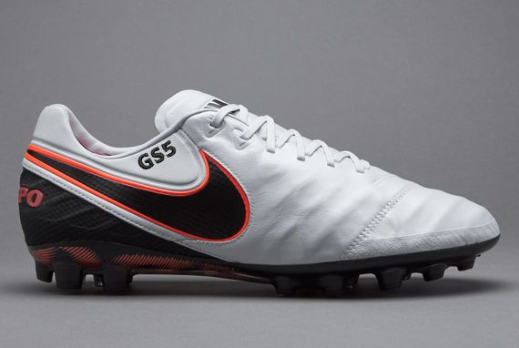 Nike Tiempo Legend VI AG-R - Soccer Cleats - Artificial Grass - Pure  Platinum/Black/Black/Hyper Orange