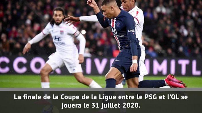 Le PSG et Lyon s'affronteront en finale de Coupe de la Ligue le vendredi 31 juillet (20h45), a annoncé ce vendredi la LFP, qui a aussi fixé les dates du Championnat.