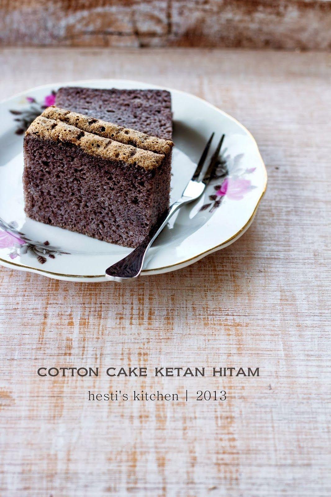 Cotton Cake Ketan Hitam Kue lezat, Resep makanan penutup