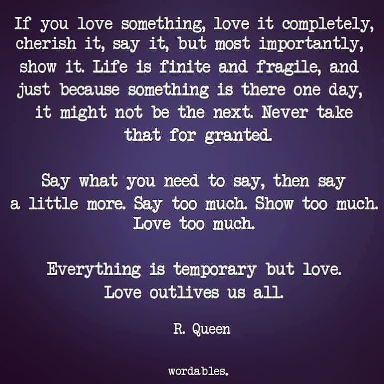 Saying if you love something let it go