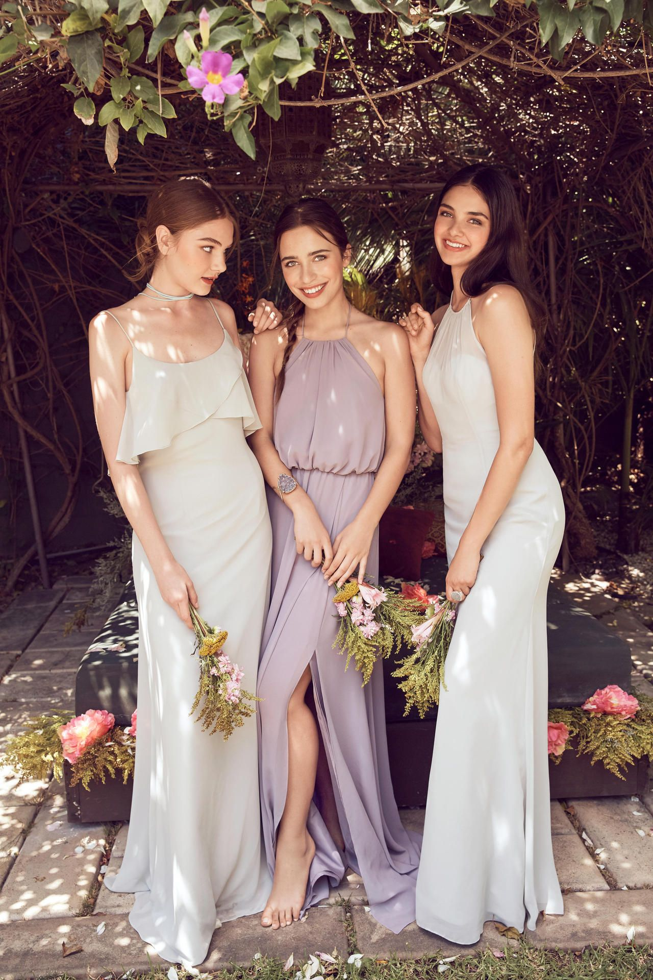 Trending for 2017: Muted bridesmaid dresses