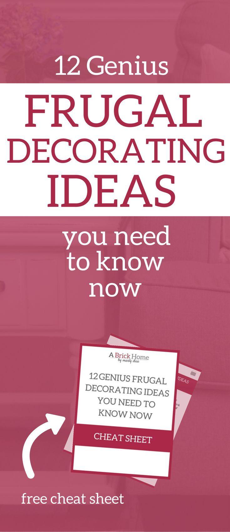 Frugal Home Decorating Ideas Part - 27: Frugal Decorating Ideas | Decorating On A Budget | Decorating Ideas | Frugal  Hacks | Frugal
