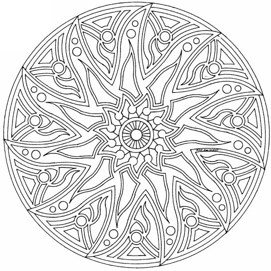 Complex Mandala Colouring Pages (page  Celtic Mandala Coloring