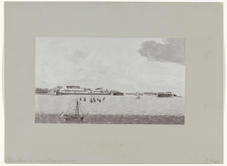Hübner & Van Santen Roeloffzen | Colombo van de reede der Compagnie gezien door C. Steiger, Hübner & Van Santen Roeloffzen, 1890 - 1910 |