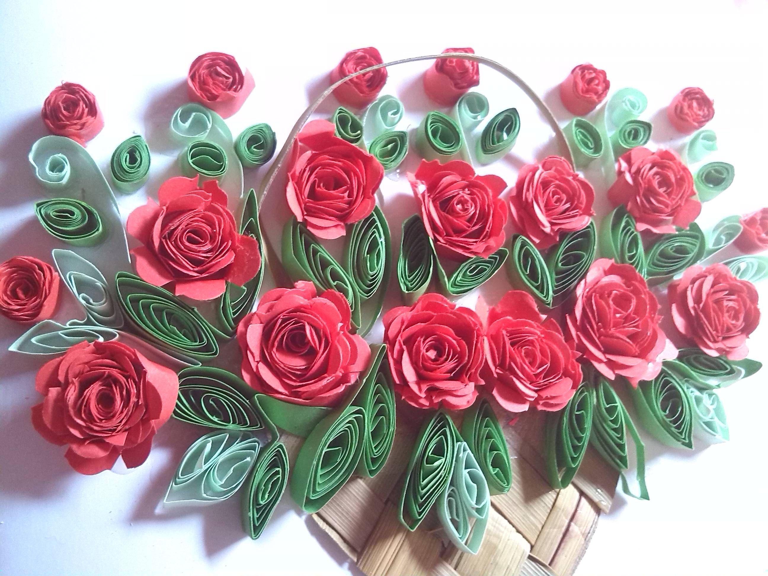 Paper quilling flower basket demirediffusion 25 best how to make paper quilling flowers mightylinksfo