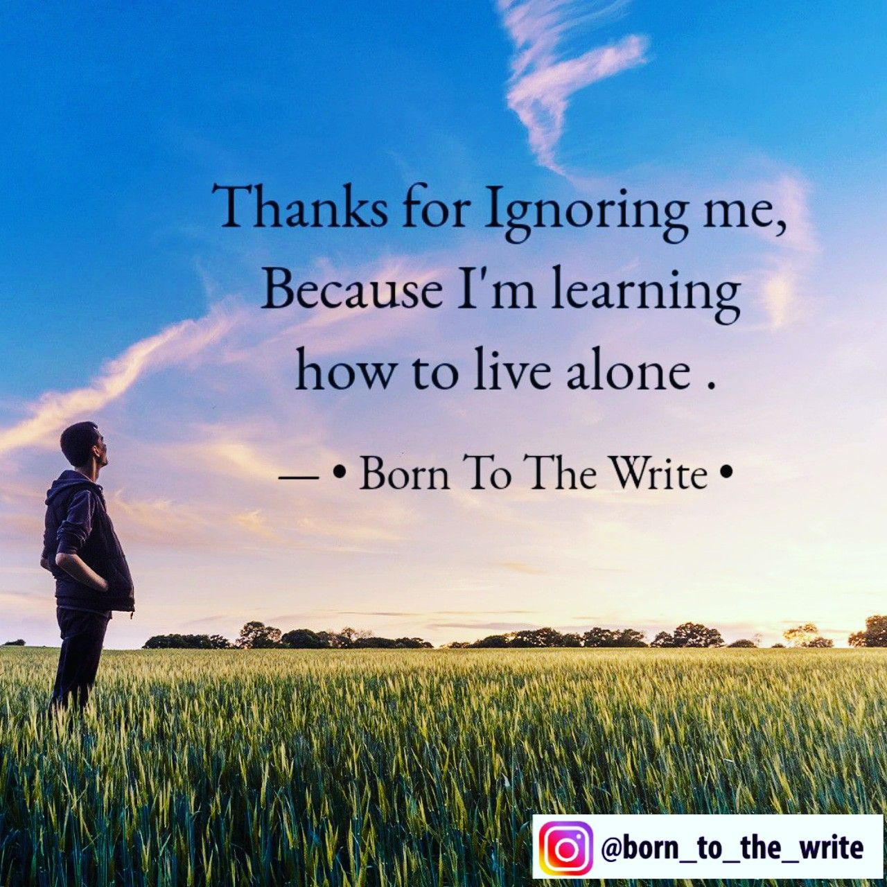 Thanks For Ignoring Me Because I M Learning How To Live Alone Writing Life Quotes Thankful