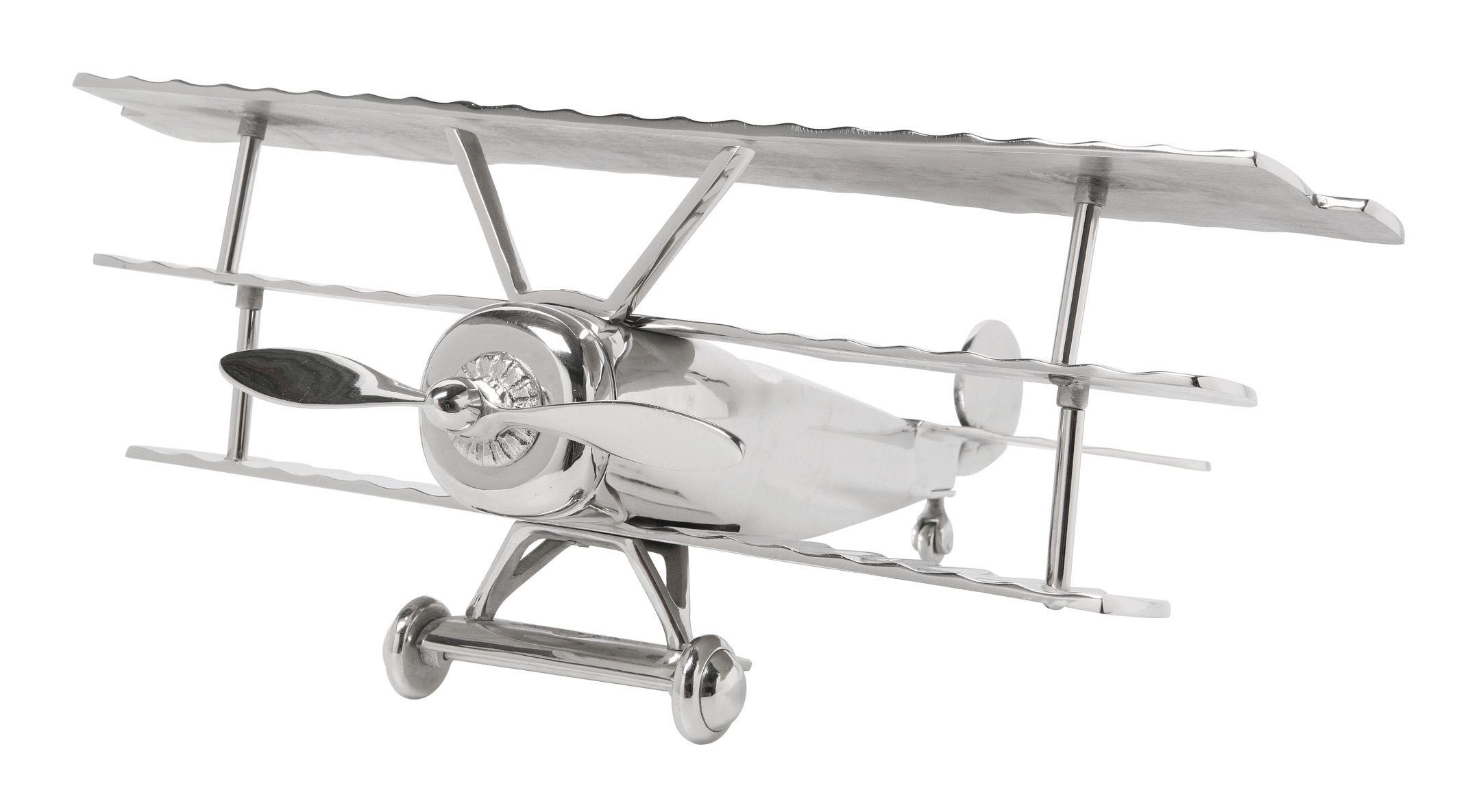 Kare Design Deko Flugzeug Triplane Nostalgischer Doppeldecker Aus