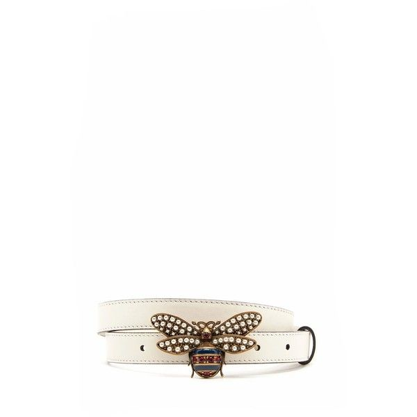 d31c854258b GUCCI Leather Belt With Jewel  Bee  (1