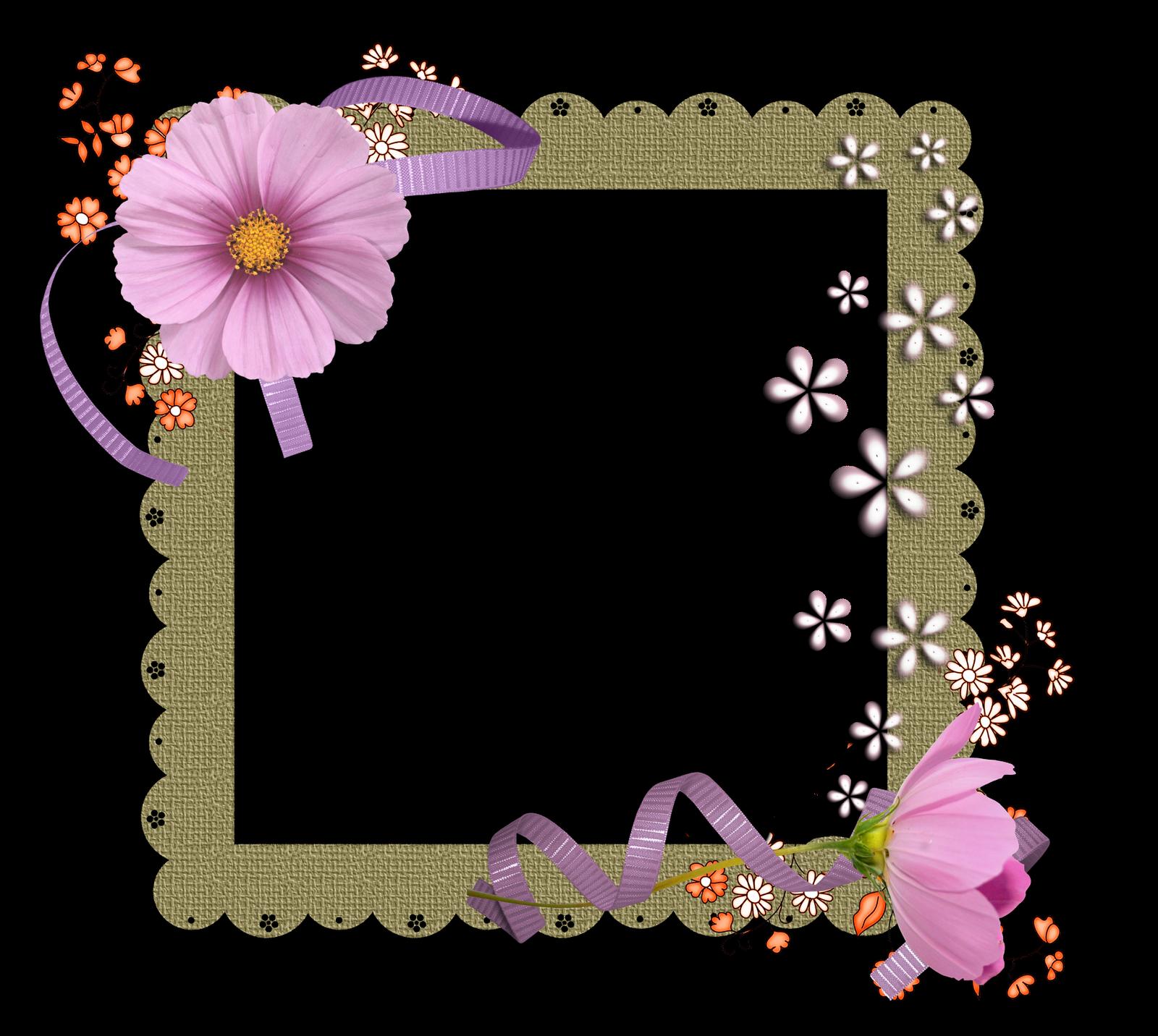 Floral Aniversario Papel De Carta Molduras