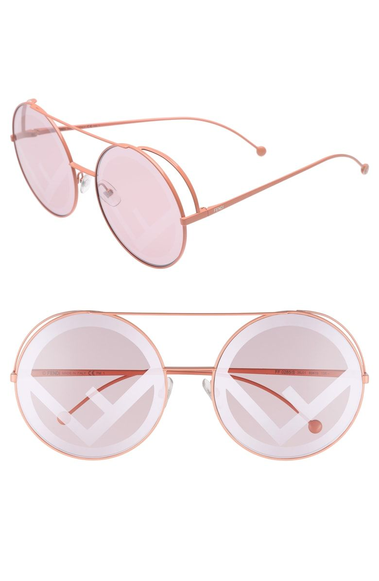 65170888f4 Free shipping and returns on Fendi Run Away 63mm Round Sunglasses at  Nordstrom.com. Round