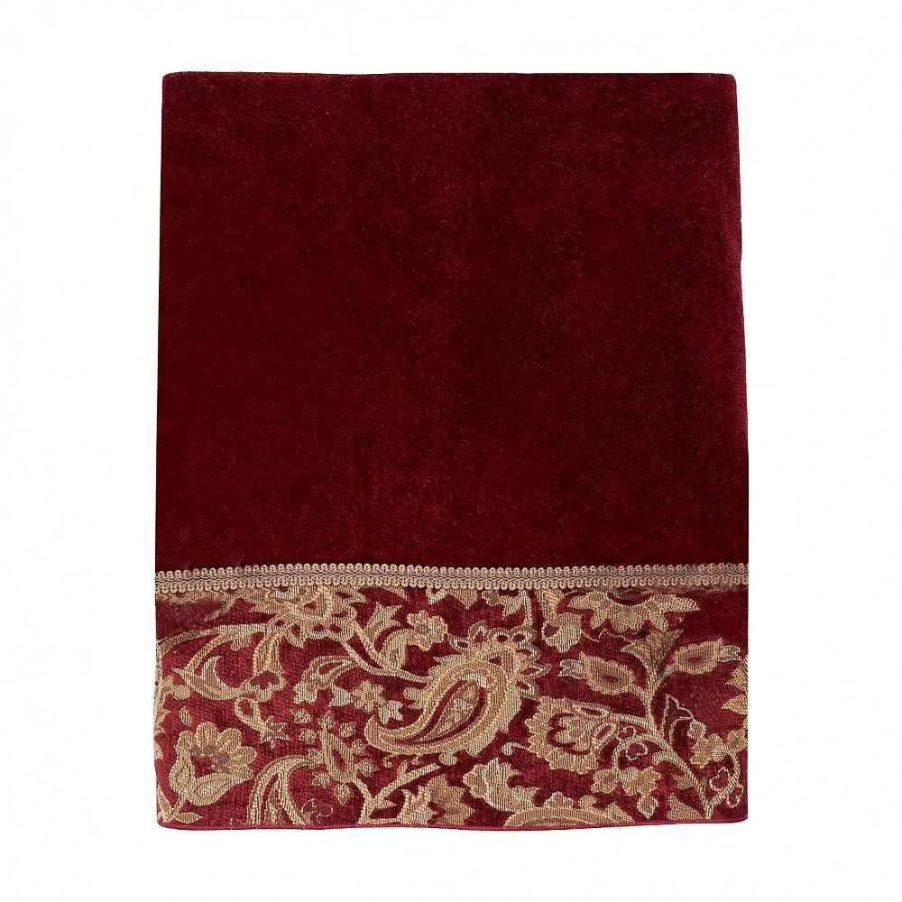 Avanti Arabesque Bath Towel Brick Red Bath Towels Cotton Bath