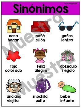 Sinonimos Synonym Kindergarten Informative
