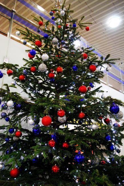 Red White Blue Tree Christmas Pinterest Christmas, Christmas