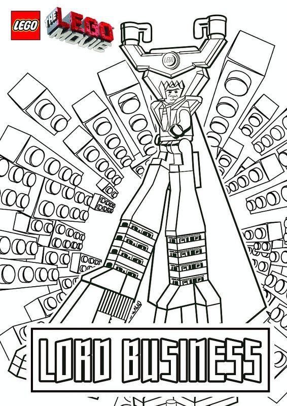the lego movie coloring pages  lord business  lego movie