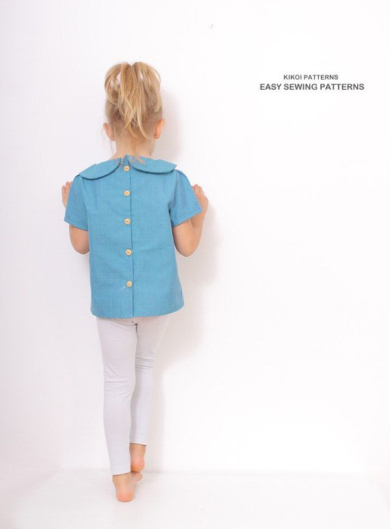 Kids Girls School Uniform Long Sleeve Blouse Cotton T-shirt Bow Collared Tops