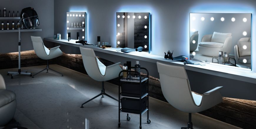 Image Result For Beauty Salon Makeup Station Beauty Parlor Beauty Room Salon Mirrors