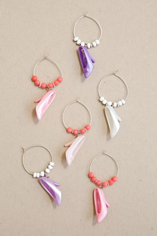 diy barbie shoe wine charms perfect for your bridal shower or bachelorette party