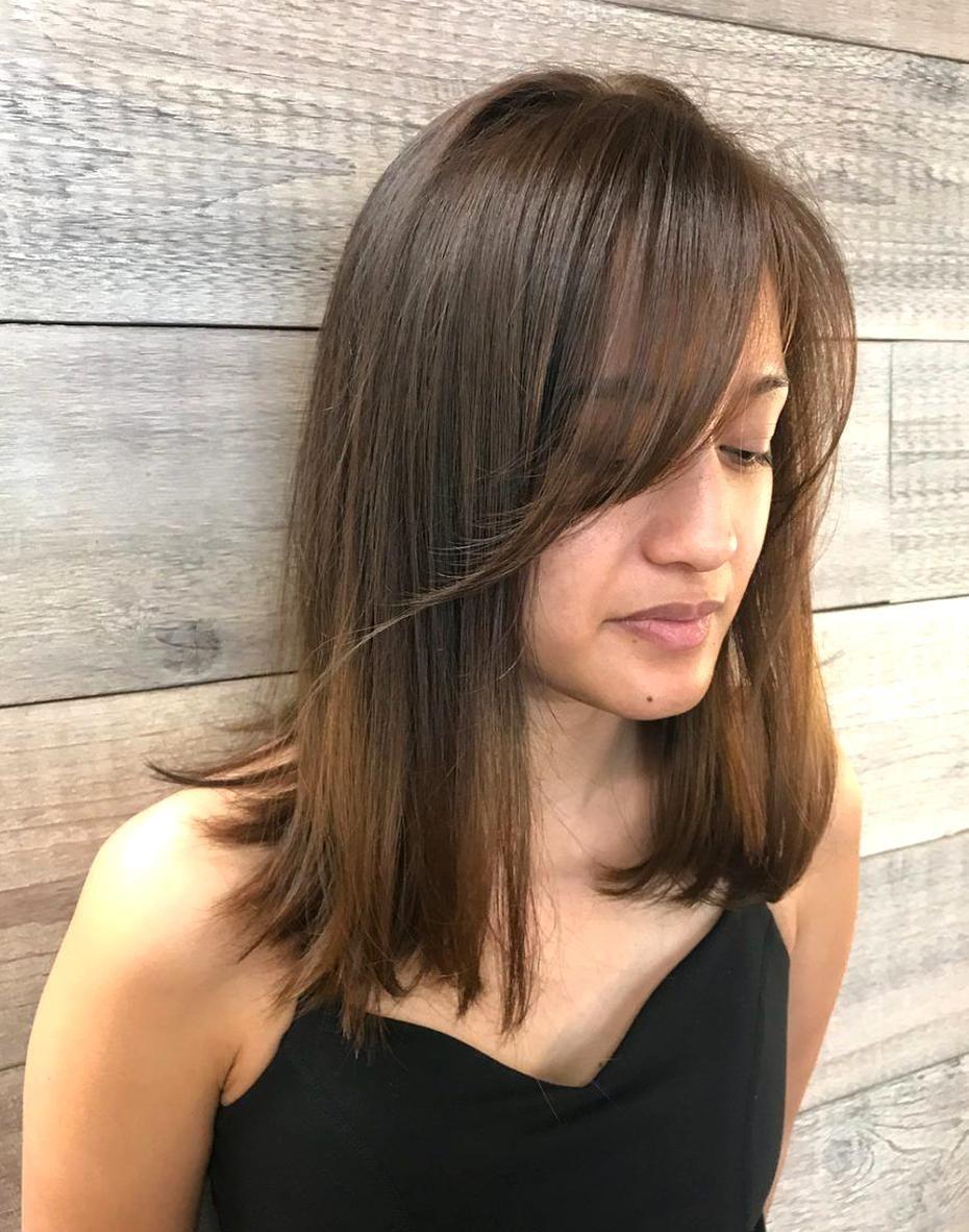 Modern Side Swept Fringe Hairstyle In 2020 Hair Styles Side Bangs Hairstyles Long Hair Styles
