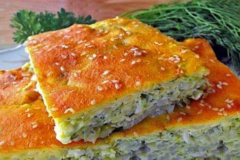 Вкусный заливной пирог – быстрый рецепт на кефире с раз ...