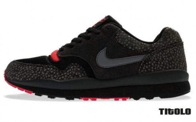 Nike Air Safari Black Solar Red Nike Mens Fashion Wear Nike Shoes Outlet